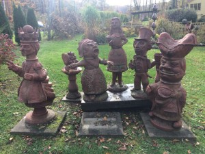 A lively subset of Mary Lynn's Alice in Wonderland sculptures. Each one took two weeks to sculpt.