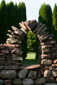 Sara's Garden Center Stone Wall Follies