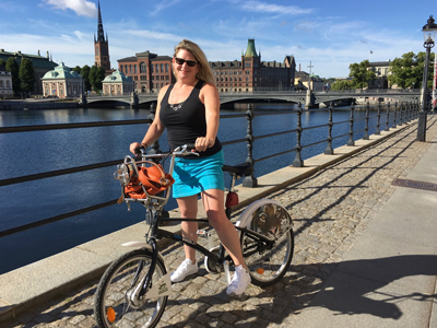 I visited Carl Linnaeus's garden in Sweden this summer! (See story, page 20.) While in Europe, I got around the cities mostly by bike.