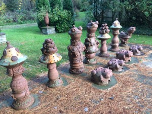 The lawn chess toads show great team unity.